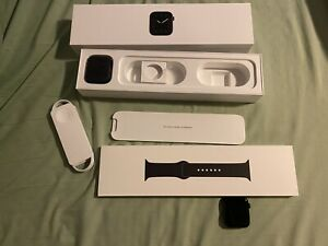 Apple Watch Series 5 44mm Space Gray Aluminium Case with Black Sport Band - S/M