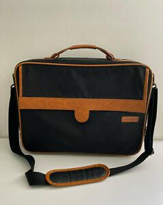 Hartmann Black Carry On Laptop Luggage Business Soft Briefcase Messenger Bag