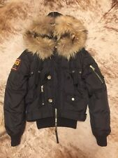 Dsquared down jacket with hood, fur, sz. 42
