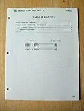 Original Kewanee 200 Series Tractor Blade Illustrated Parts List Manual