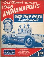 Floyd Clymer's Indianapolis 500 mile Race History 1948 Supplement