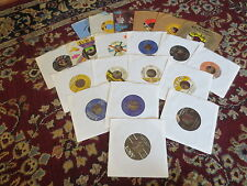 Collection Lot 20 Various Vintage 45 rpm Records - Boppers, Rockers Ect. V2