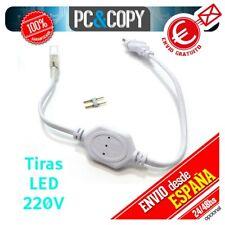 R1110 Cable Enchufe Rectificador Tiras LED  220V 2 pines Adaptador conector IP65