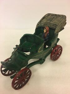 Vintage castiron model motor car of the 1890's heavy 5 pounds.
