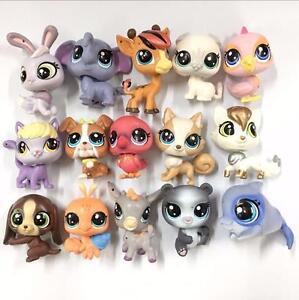 Random Pick Different 5PCS Littlest Pet Shop LPS Animal Cat Figure Kids Xmas Toy