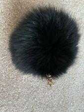Popski London Fox fur coin purse in black (brand new sample)