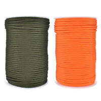 100m Parachute Cord 4mm 9 Strand 550 Rescue Survival Paracord Lanyard Rope #JT1