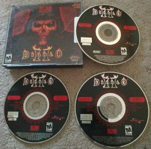 Diablo II 2 (2000) Blizzard Entertainment PC 3 Discs COMPLETE!