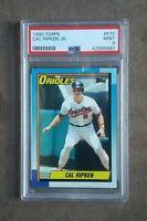 1990 Topps Baseball Cal Ripken Card #570 PSA Graded 9 Mint