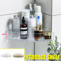 Bathroom Corner Storage Shower Rack Shelf Organiser Basket Tidy With Suction Cup