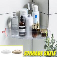 Bathroom Corner Storage Shower Rack Shelf Organiser Basket Tidy With Suction Cup