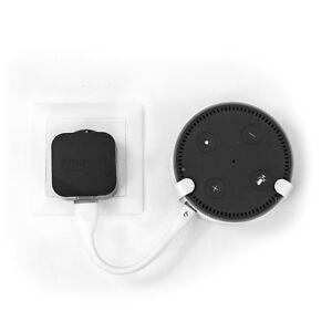 SX-Concept Wandhalterung Amazon Echo Dot 2, weiß, inkl. Silikon Micro USB Kabel