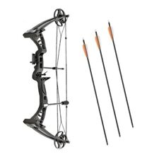 Archery Compound Bow Monster Powerful Adult Set Kit Right Hand Sight Rest Arrows