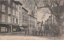 -Carte Postale ancienne Bédarieux ( Hérault ) Place Cot Eglise St Alexandre