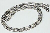 "Wunderschönes ""Würfel-Collier"" 925 Sterling Silber punziert 45,5 cm lang / A620"