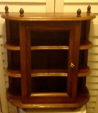 Gorgeous Wood Table Top or Wall Hanging Curio Cabinet Display Shelf