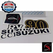 Suzuki Rv90 Decal Emblem Sticker Left and Right New Reproduction