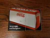 Coca Cola 1950s Vending machine pamphlet Large