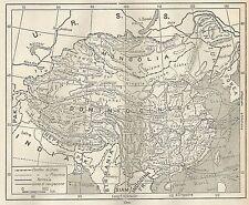 A4876 Cina - Carta geografica antica del 1953 - Old map