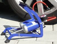 "Fußpumpe mit Doppelzylinder Luftpumpe Ballpumpe KFZ Fahrradpumpe ""TOP""     62222"