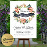 Personalised Welcome To Our Wedding Sign Poster Floral Christmas Party Any Event