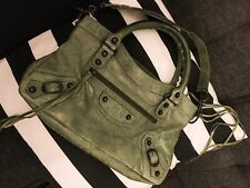Authentic Balenciaga First Classic City Bag in Rare Sage / Olive Green