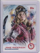 2014 TOPPS OLYMPIC JAMIE ANDERSON CARD #4 ~ SNOWBOARDING LEGEND ~ QTY