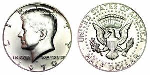 1970-D  Kennedy Half Dollars BU 40% Silver One  Coin