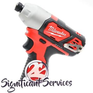 "New Milwaukee 2462-20 M12 12V Lithium Ion 1/4"" Hex Impact Driver Tool Only"