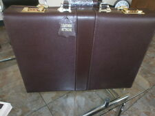 """EXECUTIVE LEATHER 3.5"""" BRIEFCASE ATTACHE COMPUTER LAPTOP CASE PIGSKIN LINED"""