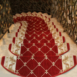 Non Slip Stair Treads Carpet Rugs Protection Cover Mats Washable Step Floor Rugs
