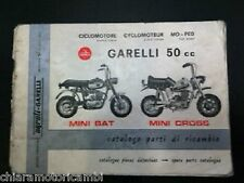GARELLI MINI BAT MINI CROSS 50 CC. CATALOGO PARTI DI RICAMBIO SPARE PARTS