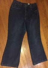 "Xhilaration Womens Plus Size 18W Blue Denim Jean 36"" x 30.5"" Flare Pants 803-318"