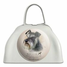 Schnauzer Dog Breed White Metal Cowbell Cow Bell Instrument