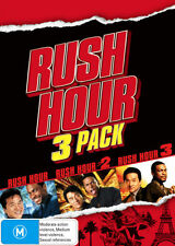 Rush Hour 1 + 2 + 3 Trilogy (DVD) Brand New and Sealed Region 4 🔥🔥