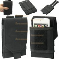 Universal Army Black Belt Loop Pouch For Mobile Phone Hook Cover Case Holster
