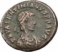 Valentinian II 378AD Authentic Ancient Roman Coin Wreath of success i39363
