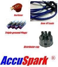MGB 1975-1989, Cables HT AZULES, ac9c bujía, Brazo de Rotor Rojo & 45d Cubierta