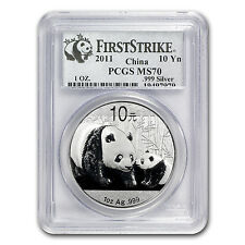 2011 1 oz Silver Chinese Panda Coin - MS-70 First Strike PCGS