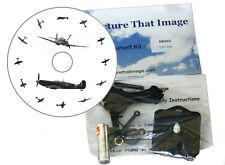 À faire soi-même CD Horloge Kit WW2 RAF Spitfire Avion Horloge Murale Ou Bureau aviation Cadeau