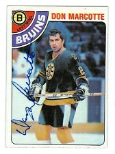 Don Marcotte Signed 1978-79 Topps Hockey Card #236 Bruins Dated In Person Auto