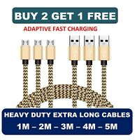 1M 2M 3M 4M 5M Micro USB FAST Data Charger Cable Lead for Samsung Galaxy S6 S7