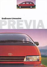 Prospekt Toyota Previa 1998 Autoprospekt 3 98 Auto Pkw car brochure Japan Asien