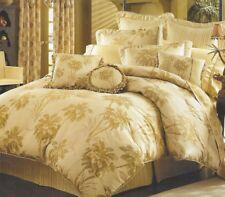 Croscill Martinique King Comforter Set + 2 shams, 2 pillows; tropical palm trees