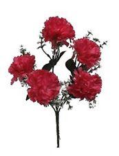 5 Carnations Pink Mauve Silk Wedding Bridal Bouquet Flowers Centerpieces Decor