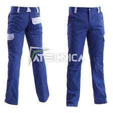 Pantalone da lavoro in cotone 260gr multitasche AERRE WORKER blu S-XXL
