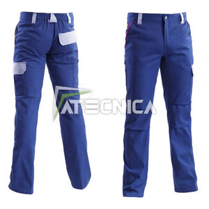 Trousers Working Cotton 260gr Multipocket aerre Worker Blue S-XXL