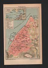 Landkarte map 1904: Stadtplan SMYRNA. Meerbusen Smyrna. Klein-Asien Türkei Izmir