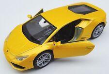 BLITZ VERSAND Lamborghini Huracan LP 610-4 gelb Welly Modell Auto 1:34 NEU & OVP