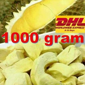 1000g Durian Monthong Freeze Dried Natural Thailand Fruit Healthy Snack Halal